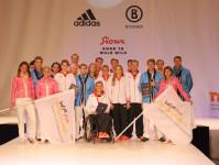 Präsentation Olympiabekleidung